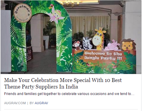 Make Your Celebration More Special With 10 Best Theme Party Suppliers In India