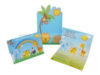 Baby Jungle Birthday theme Custom invitations