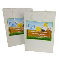 Baby Jungle Birthday theme Stickered gift bags