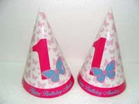 Butterfly Party Hats (Set of 6)