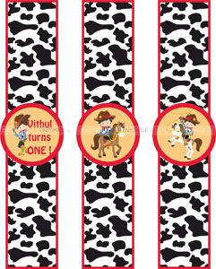 Cowboy Birthday theme Wristbands
