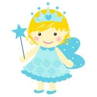 Blue fairy with crown - poster