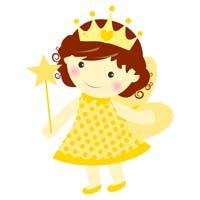 Yellow fairy with crown - poster