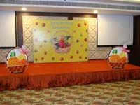 Fruits theme birthday Stage Decor