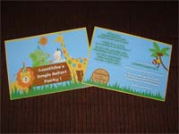 Jungle Safari Birthday theme Rectangular Invitations