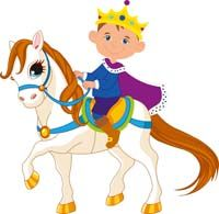 Little prince riding a horse