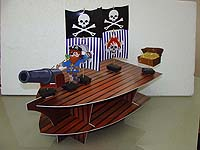Pirate birthday theme Cup cake stands