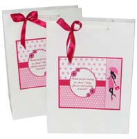 Baby Shower Decor theme Stickered gift bags