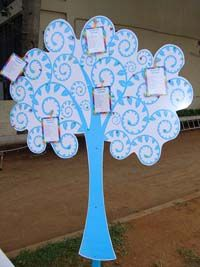 Rainbow Birthday theme Wish Tree