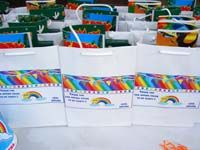 Rainbow Birthday theme Stickered gift bags