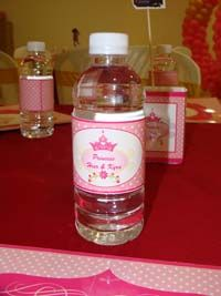 Royal Princess Birthday theme Water bottle wrappers
