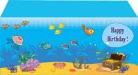 Underwater scene rectangle table cover