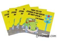 Vehicles birthday theme Thank you cards