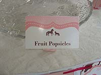 Vintage Pony Birthday theme Food labels