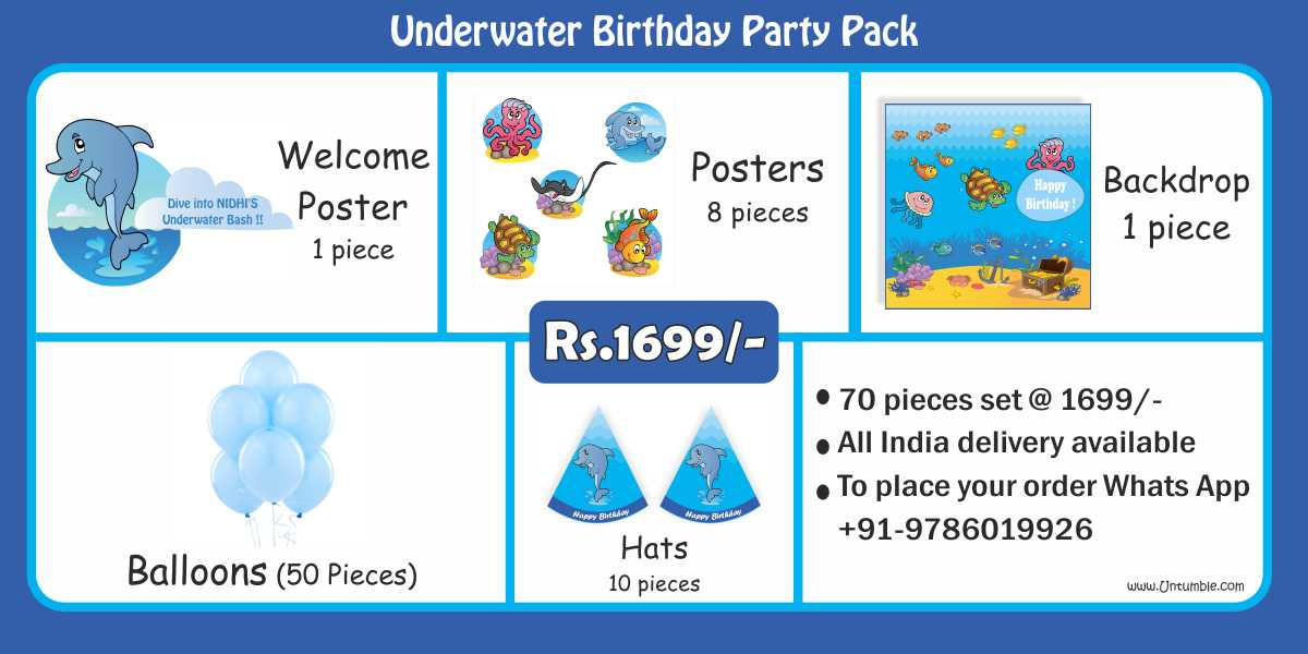 Underwater Birthday Party Pack