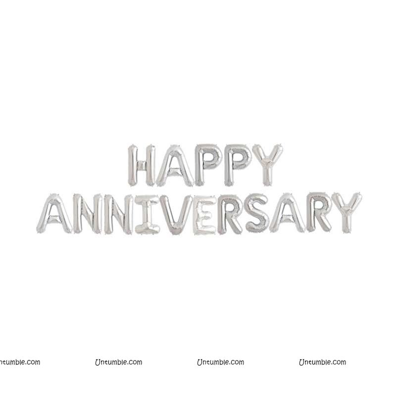 Happy Anniversary Letters Foil Balloons