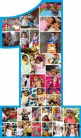 Tom n Jerry Birthday theme Baby photo collage