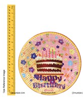 Cake with Candle Birthday Party plates (Pack of 10 )
