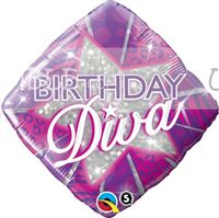 Birthday Diva Foil Balloon