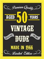 Vintage Dude 50th birthday poster