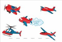 Aeroplane theme Poster Pack of 5