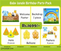 Baby Jungle Theme Mini Party Pack