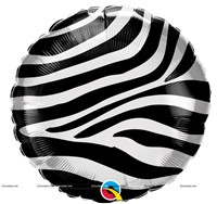 "Zebra Stripes Foil Balloon (18"")"