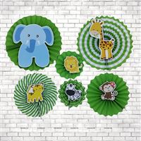 Jungle Animals Party Paper Fan decorations