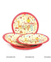 Jungle theme Happy Birthday Printed Plates (pack of 10)