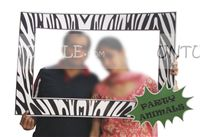 Zebra striped photo booth
