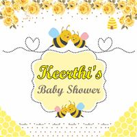 Bumble Bee Theme Baby shower backdrop