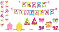 Butterfly theme Super saver birthday decoration kit (Pack of 58 pieces)