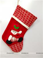 1.5ft Christmas Red and white Snowman stocking