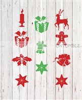 Christmas elements Danglers ( Set of 3 lengths as displayed)