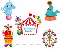 Circus Birthday theme Posters pack of 5