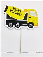Cake Toppers - Construction theme birthday party supplies