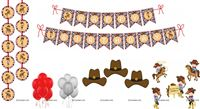 Cowboy theme Super saver birthday decoration kit (Pack of 58 pieces)