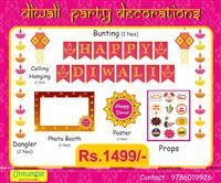 Diwali Party Props and Decoration Kit (Pack of 18 pcs)