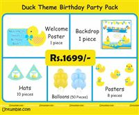 Duck theme birthday MIni Party kit