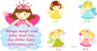 Fairy Princess Birthday theme Posters pack of 5