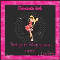 Fashionista Thank you Cards