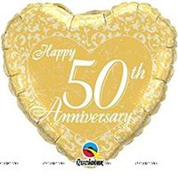 50th Anniversary Foil Balloon