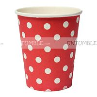 Red & white polka paper cups