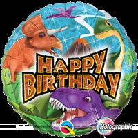 Dinosaurs Happy birthday Foil balloon