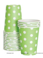Green & White Polka Party Cups (Pack of 20)