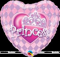 Princess Heart shaped Foil Balloon