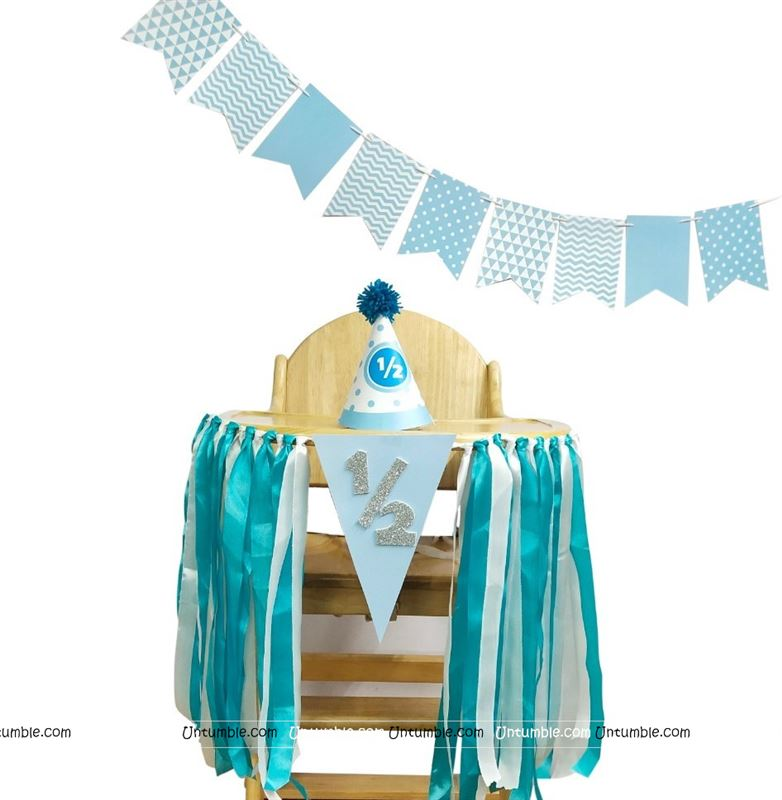 High Chair Decor for Boy