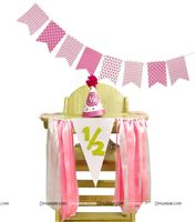 High Chair Decor for Girls Half Birthday