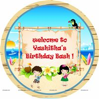 Welcome Cutout/Poster - Hawaiian theme birthday party