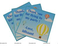 Hot Air Balloon Supplies theme Thank you cards